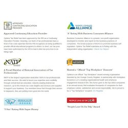 Optima Tax Relief image: Optima Tax Relief has earned many accreditations and awards for its tax debt relief service.