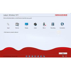 NoMachine image: During a connection, you can adjust the general settings of the program and adjust how the screen is displayed.