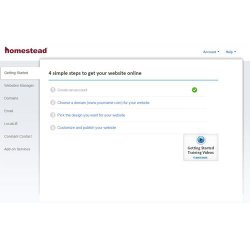 Homestead image: This software provides a step-by-step walkthrough, which helps you create your website.