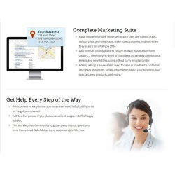 Homestead image: You can use the marketing features to promote your business.