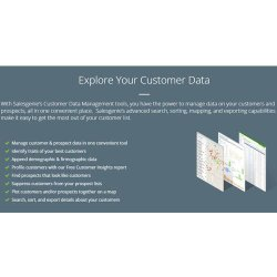Salesgenie image: This company offers data management tools that can help you sort, map and export your leads.