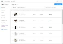 Wix image: The platform gives you the option to run an online storefront, allowing you to keep track of orders and inventory.