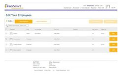 TrackSmart image: Edit employees' profiles by which location they work at and how many hours they can work.
