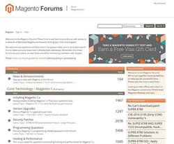 Magento image: You can ask questions, share codes and meet other users in the community forums.