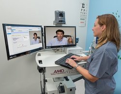 AMD Global image: AMD offers a wide line of all-in-one workstations for hospitals and remote clinics to communicate with.