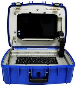 AMD Global image: AMD Global offers a portable telemedicine kit for EMTs and mobile clinics.