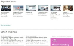 Meltwater image: The website offers videos, webinars and eBooks on marketing.
