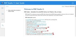 Qoppa PDF Studio Pro image: Among its numerous support resources, this software has a searchable user guide.