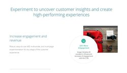 Optimizely image: Optimizely lets you experiment with your website by testing variations with customers.