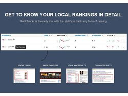 RankTrackr image: This SEO analysis tool can help you track several types of rankings, including local SEO results.
