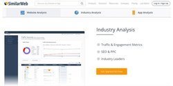 SimilarWeb image: SimilarWeb gathers information on your market, including who the industry leaders are and any new companies you need to watch.