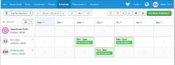 Deputy image: Drag-and-drop features make it easy to set up schedules.