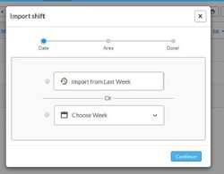 Deputy image: You can copy shifts from week to week rather than manually inputting them each time.