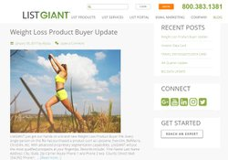 List Giant image: The website has a blog that is consistently updated with not only news from the company, but helpful guides and articles on direct marketing.