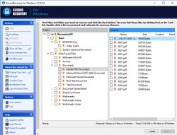 SecureRecovery gives you a file tree of the files it can recover.