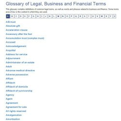 MegaDox image: The legal guide helps you understand legal terms and the uses of a variety of legal documents.