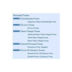 TheEasyForms image: This is a sample of the personal forms available through this service.