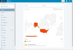 WordPress image: The analytics page allows you to see which countries your readers are logging in from.