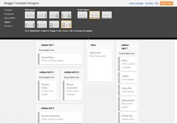 Blogger image: Aside from picking your blog's theme, you can choose a layout and determine where your site's blog feed and widgets will be placed.