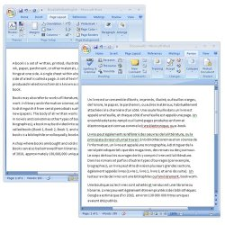 Babylon image: Open a Word document through Babylon and save a copy in French or any other language.