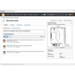 Workfront image: Social media-style comments and remarks can easily be added to manage documents, including artwork.