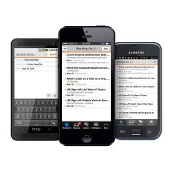Workfront image: Workfront's mobile version is available for Android and iOS devices.