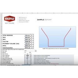B2W Estimate image: You can export your estimate information into other applications, including Excel.