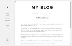 Squarespace image: The platform's minimalistic dashboard is easy enough for beginners to grasp, allowing you to edit specific sections of your blog.