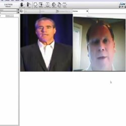 iLinc image: The program allows two webcams to broadcast at the same time.