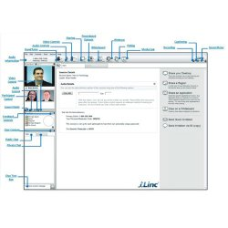 iLinc image: All the presenter controls are on the main screen and easy to find.