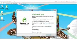 Dragon Premium image: Creating a user profile is the first step after you download the software.