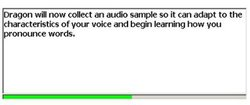Dragon Premium image: Reading the training text helps the software get the specifics of your voice down.