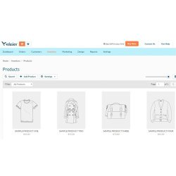 Volusion image: You can add and edit your products on the Volusion platform.