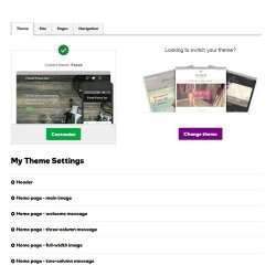 GoDaddy image: Over 20 free themes are available to choose from when you design your website.