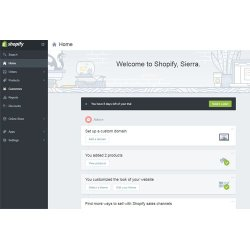 Shopify image: The Shopify dashboard helps you keep track of your recent activity and steps you need to take to improve your website.
