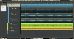 Cubase's track editing features tie recordings from the same instrument together for easy reference and quick editing.