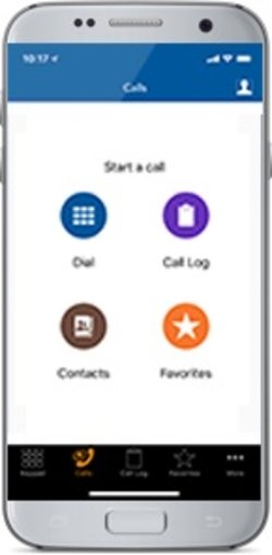 The Digium mobile app allows you to make and receive business calls from your smartphone.