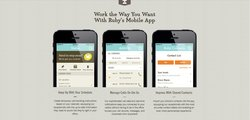 Ruby's mobile application enables user's manage their calls and scheduling on the go in one central location.