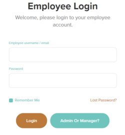 Employees can log in through OnTheClock.com's website using the assigned username and password. Besides clocking in, employees can handle other timekeeping tasks on their own.