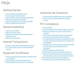 The FAQs section of Flagship's website provides information about setting up an account and PCI compliance
