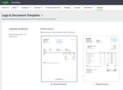 You can choose a template, accent color and font, and upload your company and association logos to customize your documents.