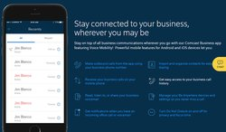 The Comcast Business app lets your employees stay connected to their phone lines whether they're in the office or not.