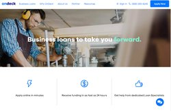 OnDeck allows you to apply for loans online in minutes. You may receive funding in as little as 24 hours.