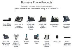 Ooma offers multiple different phone products to suit your business needs.