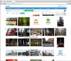 Zoolz allows you to stream media files such as video and audio from cloud storage.