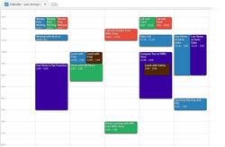 The color-coded calendar keeps you and your team organized and up-to-date.