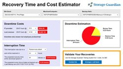 Storage Guardian's cost estimator shows you just how much downtime and interruptions could cost your business.