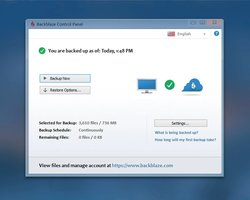 Backblaze Computer Backup is a simple-to-use cloud storage program that grants unlimited storage for your system.