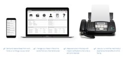 Nextiva vFax lets you fax from any device, including your existing fax machine.