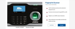 uAttend is compatible with a wide selection of wall-mounted timeclocks, including biometric clocks that require fingerprint scans to punch in and out.